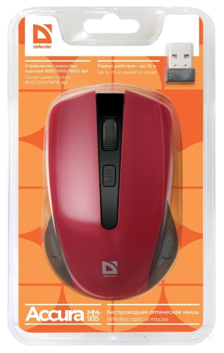 Defender Accura MM-935 Red USB