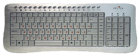 Клавиатура Oklick 380 M Office Keyboard Silver USB