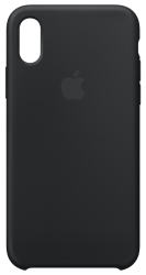 Apple Silicone Case для iPhone X Black