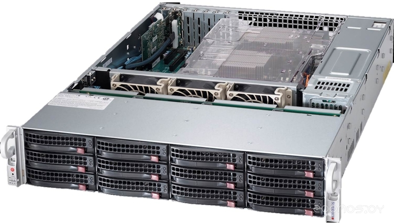 Серверная платформа Supermicro SSG-6028R-E1CR12T