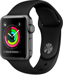 Apple Watch Series 3 38mm Aluminum Case with Sport Band (Space Grey/Black)