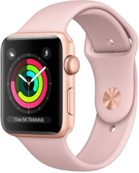 Apple Watch Series 3 38mm Aluminum Case with Sport Band (Rose Gold)