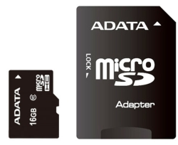 A-Data Premier microSDHC Class 10 UHS-I U1 + SD adapter 16Gb