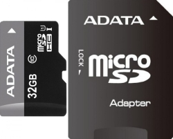 A-Data Premier microSDHC Class 10 UHS-I U1 + SD adapter 32 Гб