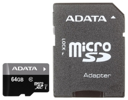 A-Data Premier microSDXC Class 10 UHS-I U1 64GB + SD adapter