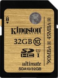 Kingston SDHC Ultimate UHS-I U1 (Class 10) 32GB