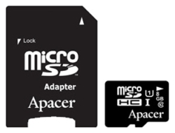 Apacer microSDHC Card Class 10 UHS-I U1 8GB + SD adapter