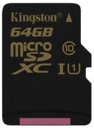 Kingston microSDXC UHS-I U1 (Class 10) 64GB