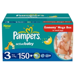 Pampers Active Baby-Dry 3 Midi (150 шт)