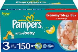 Pampers Active Baby 3 2x Economy (150 шт)