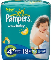 Pampers Active Baby 4+ Maxi Plus (18 шт)