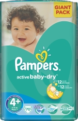 Pampers Active Baby-Dry 4+ MaxiPlus (70 шт)