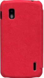 Nillkin Tree-texture Leather Case for LG E960 Nexus 4 (Red)