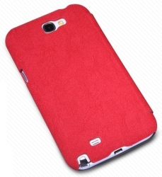 Nillkin Tree-texture Leather Case for Samsung N7100 GALAXY Note II (Red)