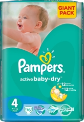 Pampers Active Baby-Dry 4 Maxi (76 шт)